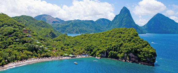 Jade Mountain Is St Lucia S Only Resort Property With The Iconic View Of Both