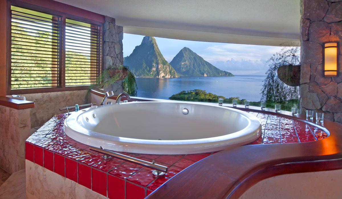 Jade Mountain Bathroom With A View