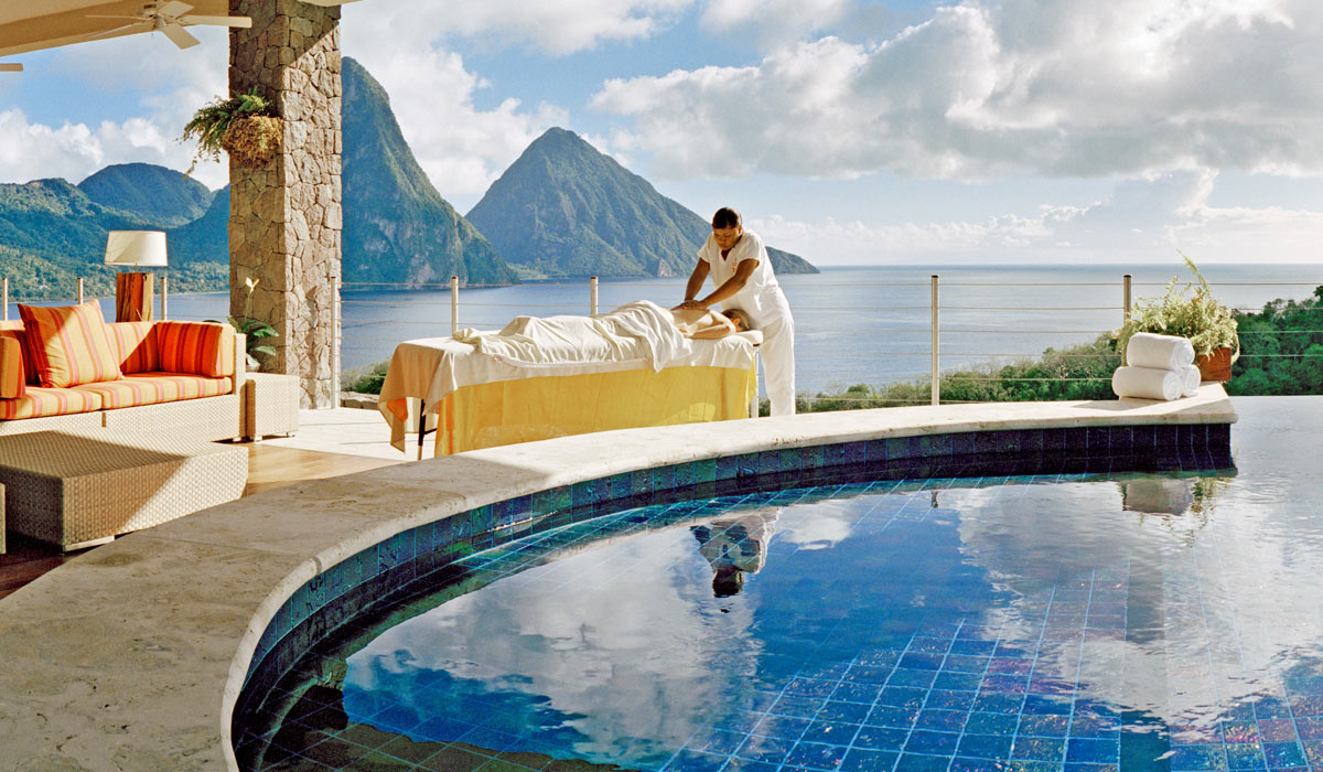 spa treatments at jade mountain - romantic luxury st lucia resort