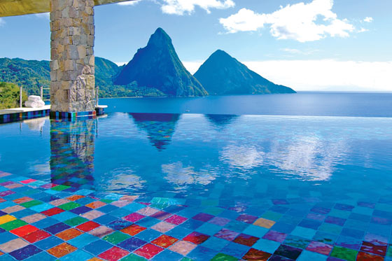 Infinity Pool Jade Mountain St Lucia's Most Romantic Luxury Resort